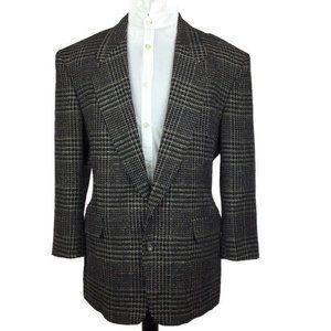 Harve Benard Black Tweed USA Made Blazer